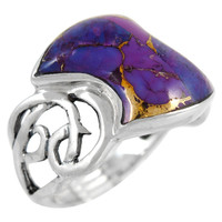 Sterling Silver Ring Purple Turquoise R2436-C77