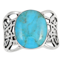 Sterling Silver Ring Turquoise R2437-C75