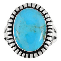 Sterling Silver Ring Turquoise R2438-C75