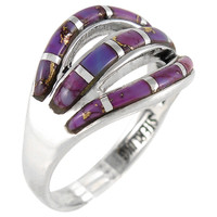 Sterling Silver Ring Purple Turquoise R2229-C07