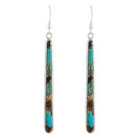 Sterling Silver Earrings Lava Rock Turquoise E1250W-C95