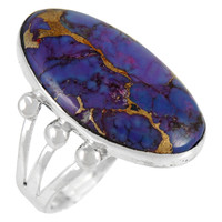 Sterling Silver Ring Purple Turquoise R2242-LG-C77