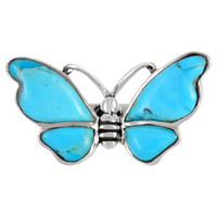 Sterling Silver Ring Butterfly Turquoise R2439-C75