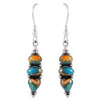 Sterling Silver Earrings Multi Gemstones E1278-C89