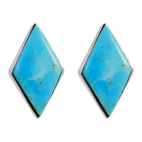 Sterling Silver Earrings Turquoise E1274-C75