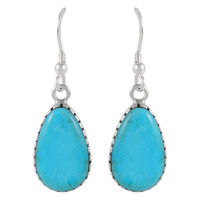 Sterling Silver Earrings Turquoise E1261-C75