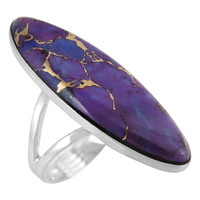 Sterling Silver Ring Purple Turquoise R2440-C77