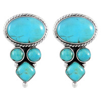 Sterling Silver Earrings Turquoise E1280-C75