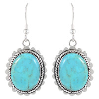 Sterling Silver Earrings Turquoise E1282-C75