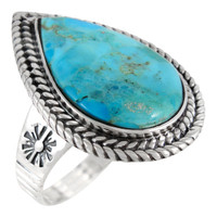 Sterling Silver Ring Turquoise R2443-C75