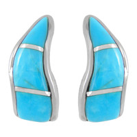 Sterling Silver Earrings Turquoise E1286-C05