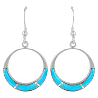 Sterling Silver Earrings Turquoise E1287-C05