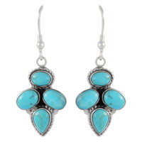 Sterling Silver Earrings Turquoise E1285-C75