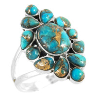 Sterling Silver Ring Matrix Turquoise R2445-C84