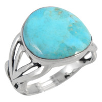 Sterling Silver Ring Turquoise R2444-C75