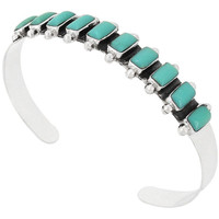 Sterling Silver Bracelet Turquoise B5441-C75
