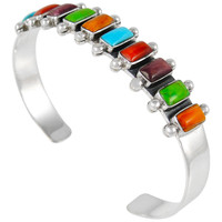 Sterling Silver Bracelet Multi Gemstone B5441-C71