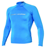 Magic Marine Cube Rash Vest - Blue LS Mens