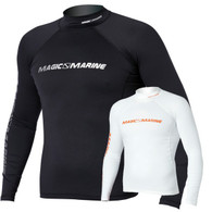 Magic Marine Cube Rash Vest - White LS Mens
