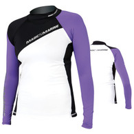 Magic Marine Energy Rash Vest - Purple LS Womens