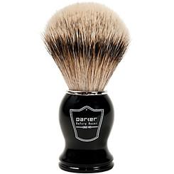 Parker Black and Chrome Silver-Tip Pure Badger Shaving Brush