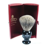 Kent Shaving Brush Pure Grey Badger Brush BLK2 Medium