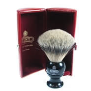 Kent Shaving Brush - Pure Silver-Tipped Badger Brush BLK4 Small