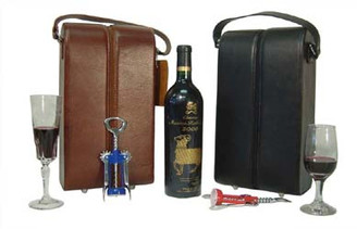 Leather Double Wine Case Holder