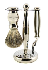 Edwin Jagger Luxury Nickel Plated Shaving Set Mach 3