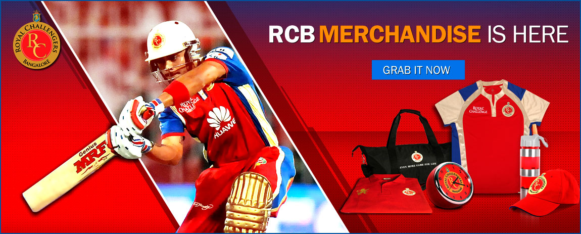 www.FandomCricket.com - Royal Challengers Bangalore Fan Merchandise
