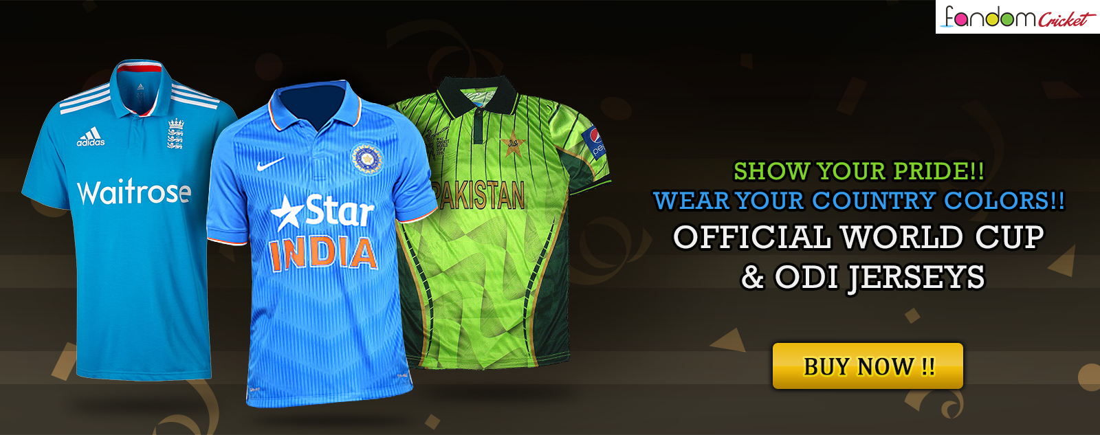 www.FandomCricket.com - Team India Cricket Jerseys