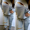BrytCouture Sexy Front Zipper Women Sport Tracksuit Top and Pant Set