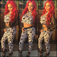 BrytCouture Long Sleeves Two-piece Fashion Print Jumpsuit Set
