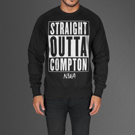 Limited Edition Straight Outta Compton N.W.A Black Sweatshirt