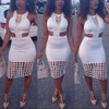 BrytCouture Tank Sleeveless Cut-out Hollow-out White Mini Dress