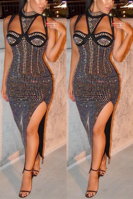 BrytCouture Party Slayer Sleeveless Maxi Dress