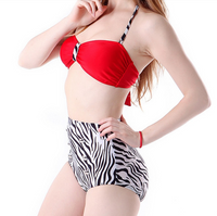 2 Piece High Waist Strap Swimsuit