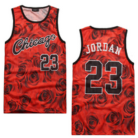 3D Floral Print Chicago Jordan 23 Slim Fit Vest