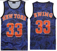 3D Floral Print New York Ewing 33 Slim Fit Vest