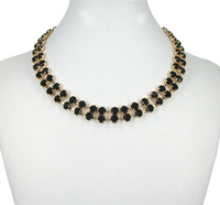 Beaded Collar Gold Plated Necklace