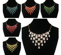 Colorful Beaded Collar Gold Plated Necklace
