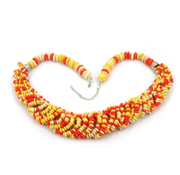 Retro Vintage European Style Colorful Necklace.