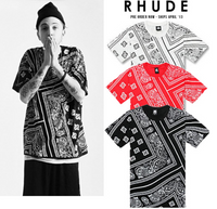 Rhude Bandana KTZ Hip Hop Unisex Streetwear T-Shirt