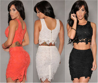 Two-Piece Gorgeous Sleeveless Lace Dress Set
