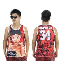 3D Floral Print 34 Rihanna Diamonds Vest