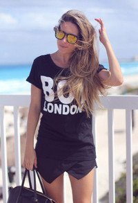 BOY London Crew Neck White and Black T-Shirts