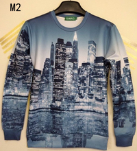City High Rise 3D Print Unisex Sweatshirts
