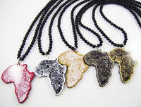 African Map Hip-Hop Fashion Necklace