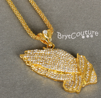 Street Dance Chain Necklace with 18K Gold Silver Plated Pendant