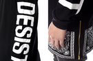 CEASE DESIST Bandana Extended Mens Long Sleeve T-Shirt